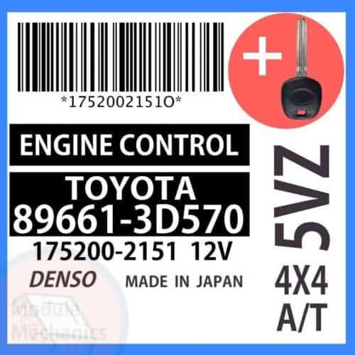 89661-3D570 ECU & Programmed Master Key for Toyota 4Runner   OEM Denso