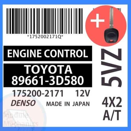 89661-3D580 ECU & Programmed Master Key for Toyota 4Runner | OEM Denso