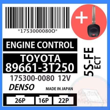 89661-3T250 ECU & Programmed Master Key for Toyota Camry | OEM Denso