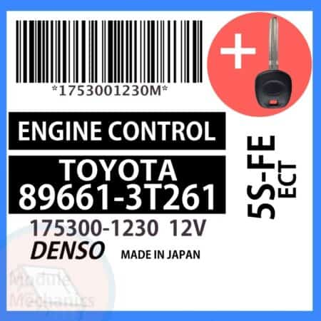 Compatible: 1998 1999 Toyota Camry OEM Part Number:89661-3T261 | 896613T261 | 175300-1230 | 1753001230
