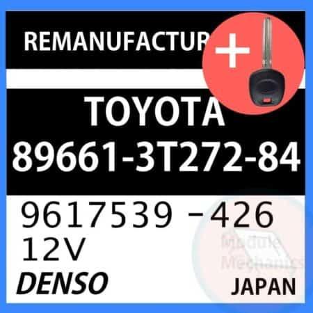 89661-3T272-84 ECU & Programmed Master Key for Toyota Camry   OEM Denso