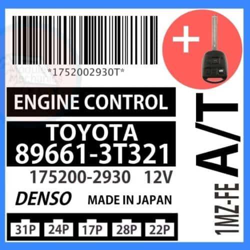 89661-3T321 OEM ECU W/ Programmed Master Key Lexus ES300