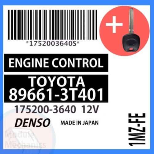 89661-3T401 ECU & Programmed Master Key for Toyota Camry   OEM Denso