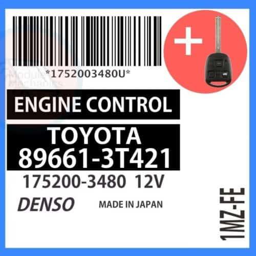 89661-3T421 OEM ECU W/ Programmed Master Key Lexus ES300