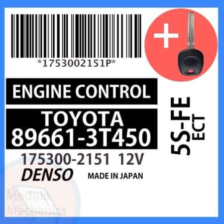 89661-3T450 ECU & Programmed Master Key for Toyota Camry   OEM Denso