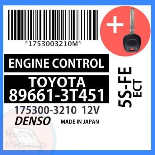 89661-3T451 ECU & Programmed Master Key for Toyota Camry   OEM Denso