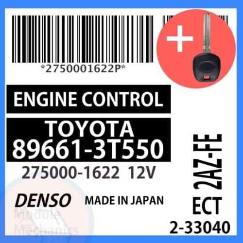 89661-3T550 ECU & Programmed Master Key for Toyota Camry | OEM Denso