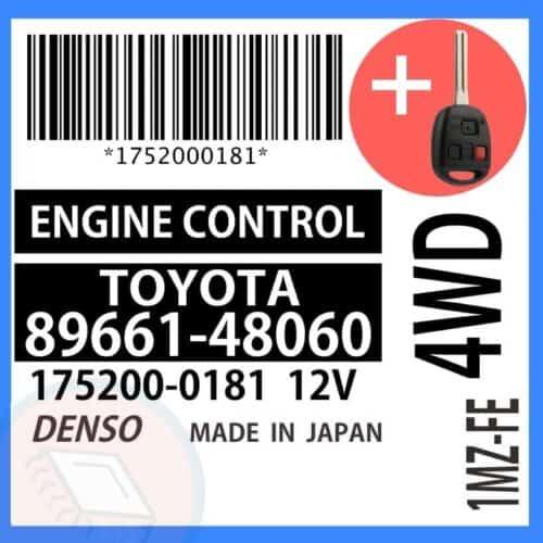 89661-48060 OEM ECU W/ Programmed Master Key Lexus RX300