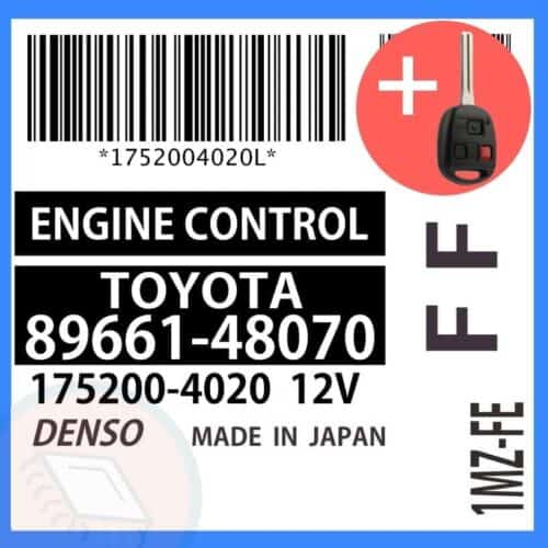 89661-48070 OEM ECU W/ Programmed Master Key Lexus RX300