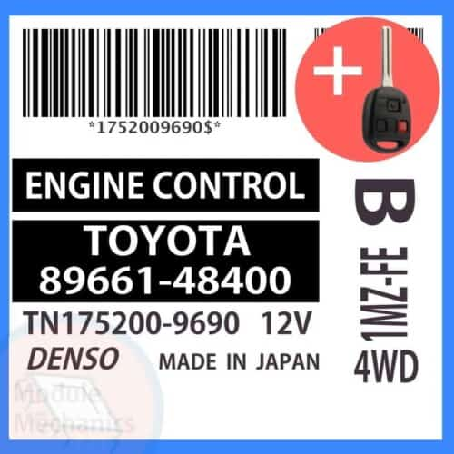 89661-48400 OEM ECU W/ Programmed Master Key Lexus RX300