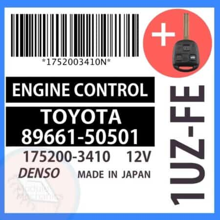 89661-50501 OEM ECU W/ Programmed Master Key Lexus LS400