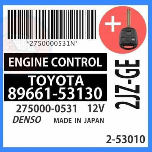 89661-53130 OEM ECU W/ Programmed Master Key Lexus IS300