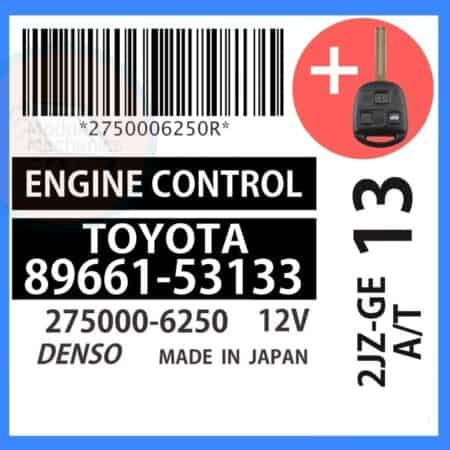89661-53133 OEM ECU W/ Programmed Master Key Lexus IS300