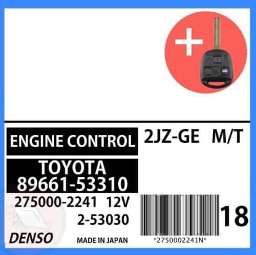 89661-53310 OEM ECU W/ Programmed Master Key Lexus IS300