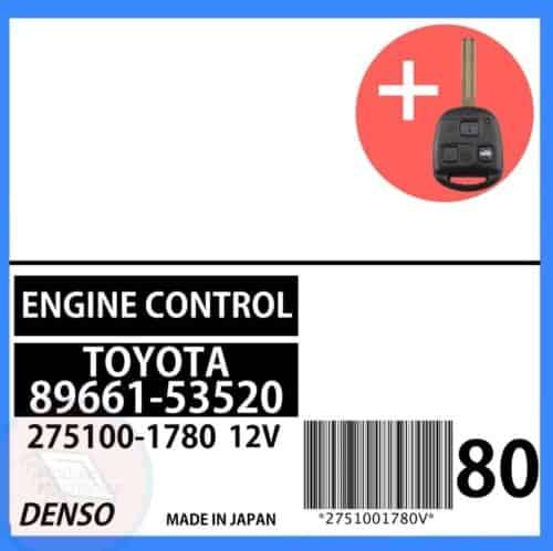 89661-53520 OEM ECU W/ Programmed Master Key Lexus IS300