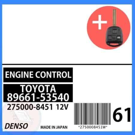 89661-53540 OEM ECU W/ Programmed Master Key Lexus IS300