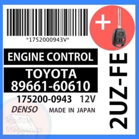 89661-60610 OEM ECU W/ Programmed Master Key Lexus LX470