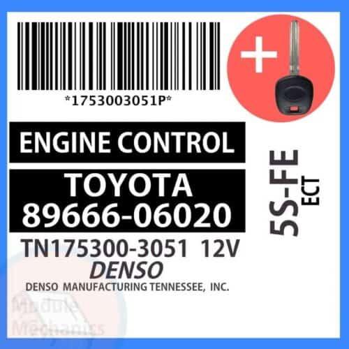 89666-06020 ECU & Programmed Master Key for Toyota Camry | OEM Denso