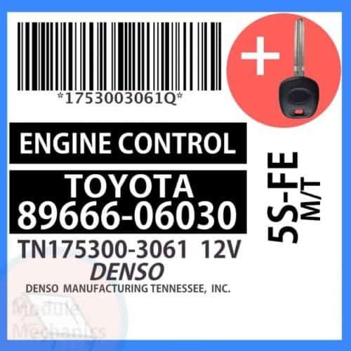 89666-06030 ECU & Programmed Master Key for Toyota Camry | OEM Denso