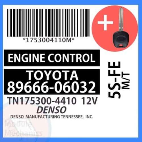 89666-06032 ECU & Programmed Master Key for Toyota Camry | OEM Denso