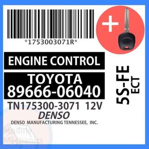 89666-06040 ECU & Programmed Master Key for Toyota Camry   OEM Denso
