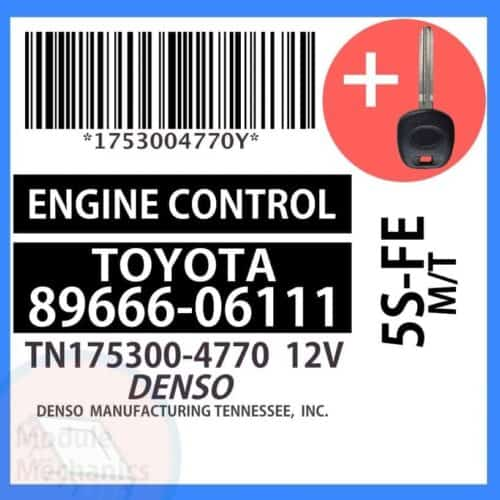 89666-06111 ECU & Programmed Master Key for Toyota Camry | OEM Denso