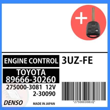 89666-30260 OEM ECU W/ Programmed Master Key Lexus GS430