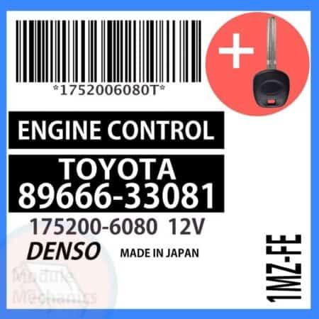 89666-33081 ECU & Programmed Master Key for Toyota Camry | OEM Denso