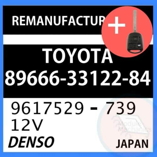 89666-33122-84 OEM ECU W/ Programmed Master Key Lexus ES300