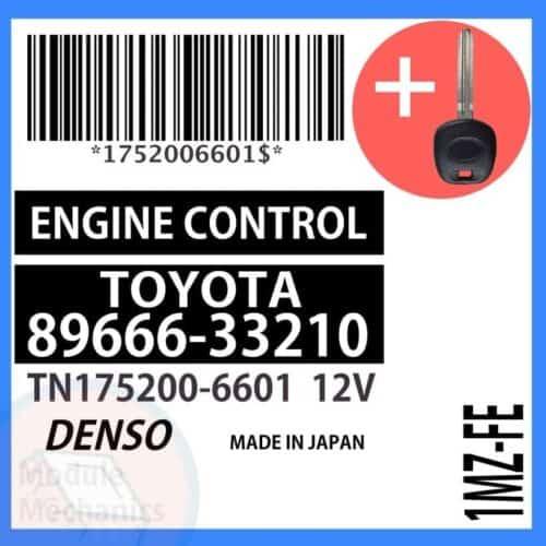 89666-33210 ECU & Programmed Master Key for Toyota Camry | OEM Denso