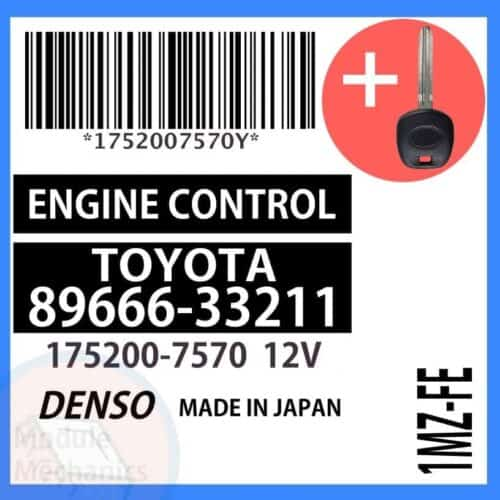 Compatible: 2001 Toyota Camry OEM Part Number:89666-33211 | 8966633211 | 175200-7570 | 1752007570