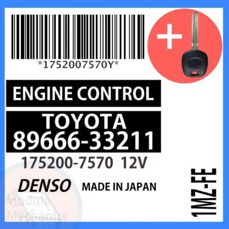 Compatible: 2001 Toyota Camry OEM Part Number:89666-33211   8966633211   175200-7570   1752007570