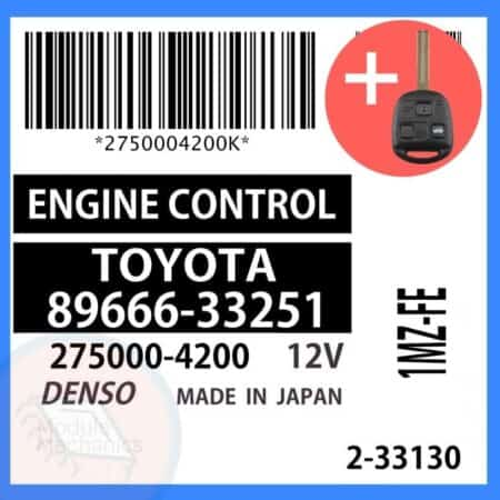 89666-33251 OEM ECU W/ Programmed Master Key Lexus ES300