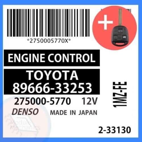 89666-33253 OEM ECU W/ Programmed Master Key Lexus ES300