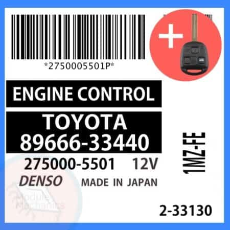 89666-33440 OEM ECU W/ Programmed Master Key Lexus ES300