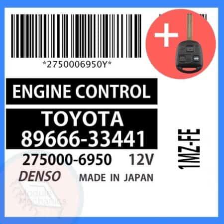 89666-33441 OEM ECU W/ Programmed Master Key Lexus ES300