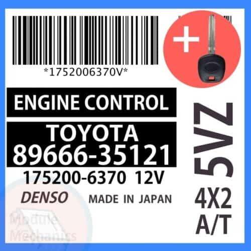 89666-35121 ECU & Programmed Master Key for Toyota 4Runner | OEM Denso