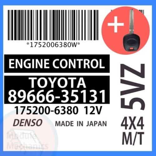 89666-35131 ECU & Programmed Master Key for Toyota 4Runner | OEM Denso