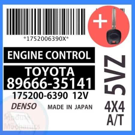 89666-35141 ECU & Programmed Master Key for Toyota 4Runner   OEM Denso