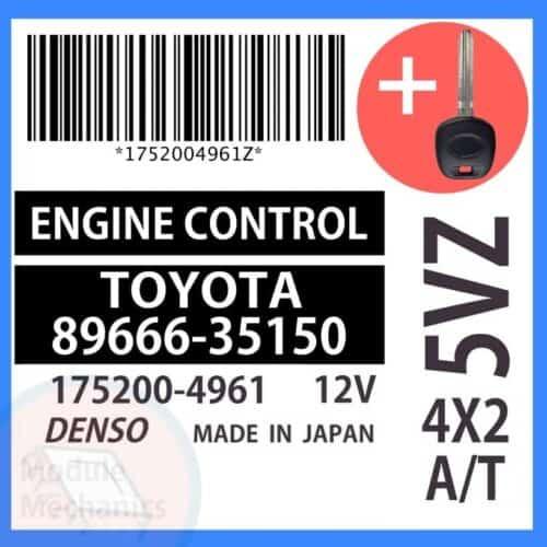 89666-35150 ECU & Programmed Master Key for Toyota 4Runner | OEM Denso