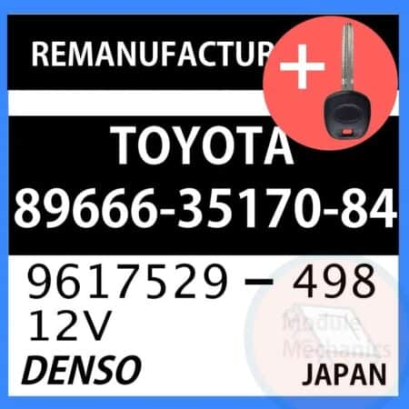 89666-35170-84 ECU & Programmed Master Key for Toyota 4Runner | OEM Denso