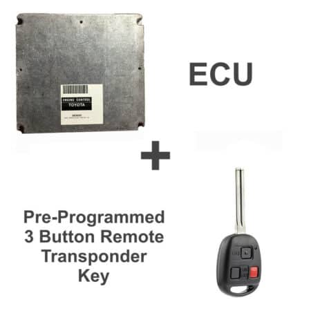 89661-48390 ECU & Programmed Master Key for Lexus RX300   OEM Denso