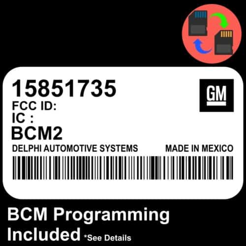 15851735 Chevrolet Colorado GMC Canyon Body Control Module BCM