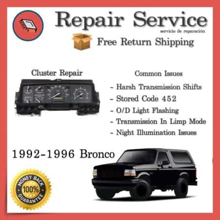 1992 1993 1994 1995 1996 1997 Ford Bronco PSOM cluster Repair