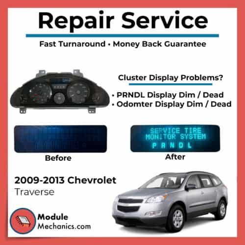 2009 2010 2011 2012 2013 Traverse Cluster Repair