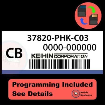 37820-PHK-C03 ECU with PROGRAMMING - VIN & Security   Honda CRV   ECM PCM Engine Control Computer OEM